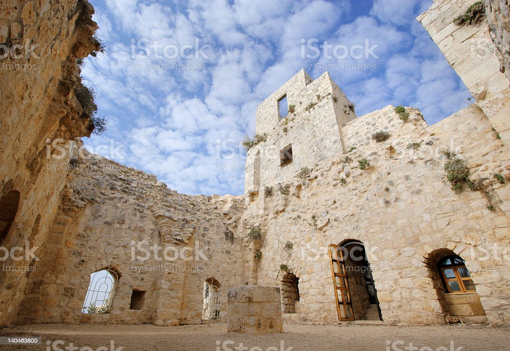 Inside the old castle royalty-free stock photo