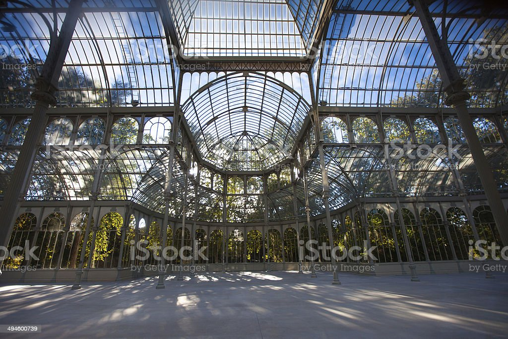 Inside the Palacio de Cristal, Madrid stock photo