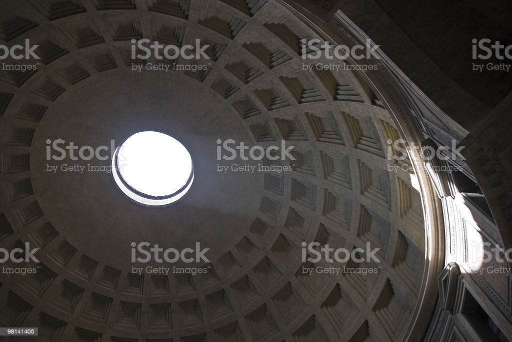 Inside the Pantheon royalty-free stock photo