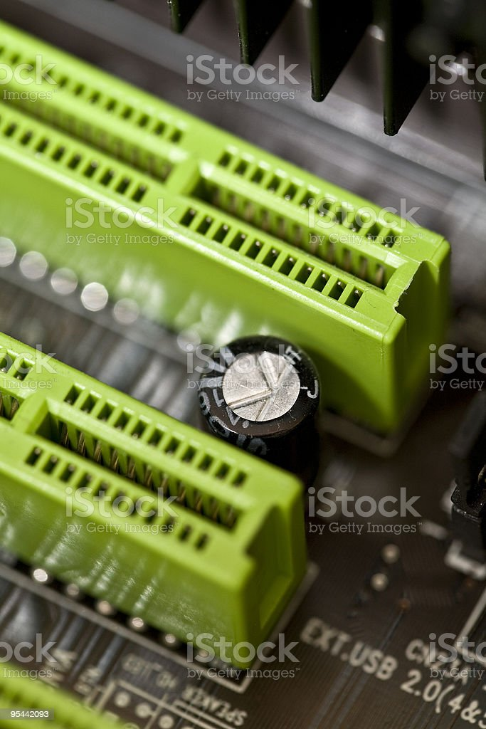 Inside the personal computer royalty-free stock photo