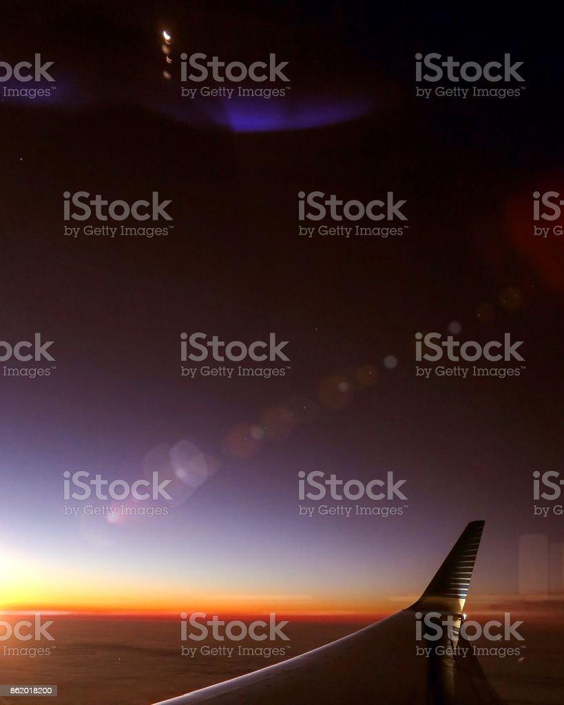 Inside the plane stock photo