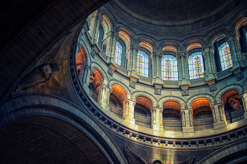 Dome of the Sacre-Coeur basilica in Montmartre