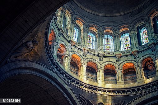 istock Inside the Sacre-Coeur basilica in Paris 610153454