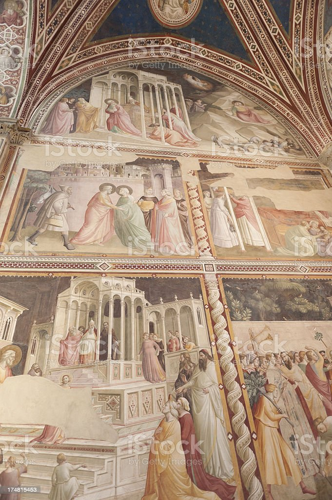 inside the santa croce church, florence royalty-free stock photo