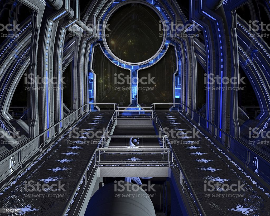Inside the Space Station stock photo