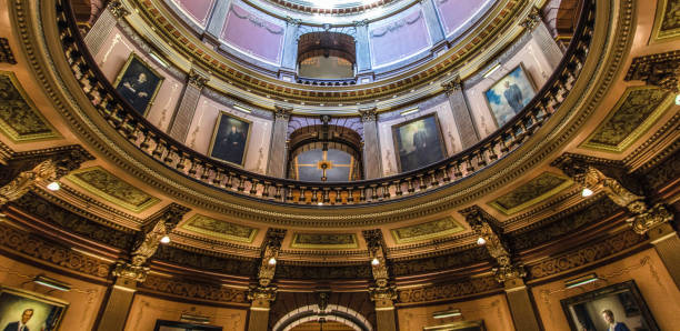 Inside The State Of Michigan Capitol Rotunda stock photo