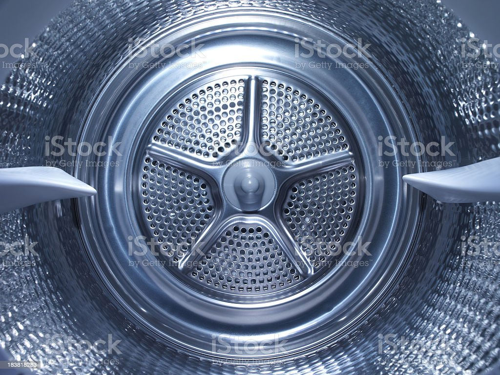 Inside the steel drum of a washing machine royalty-free stock photo