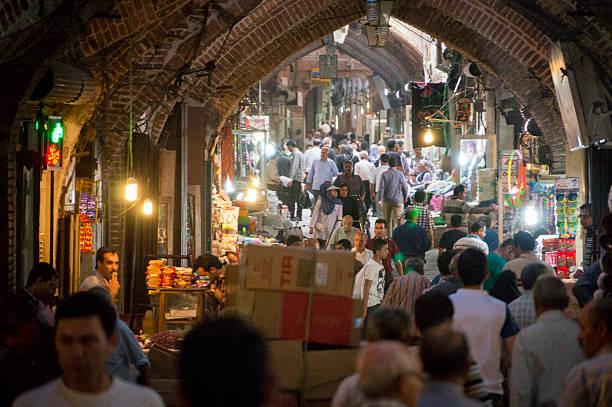 inside the tabriz bazaar, iran's oldest market. - subway foto e immagini stock