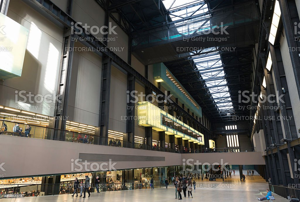 Inside the Tate Modern art museum in London royalty-free stock photo