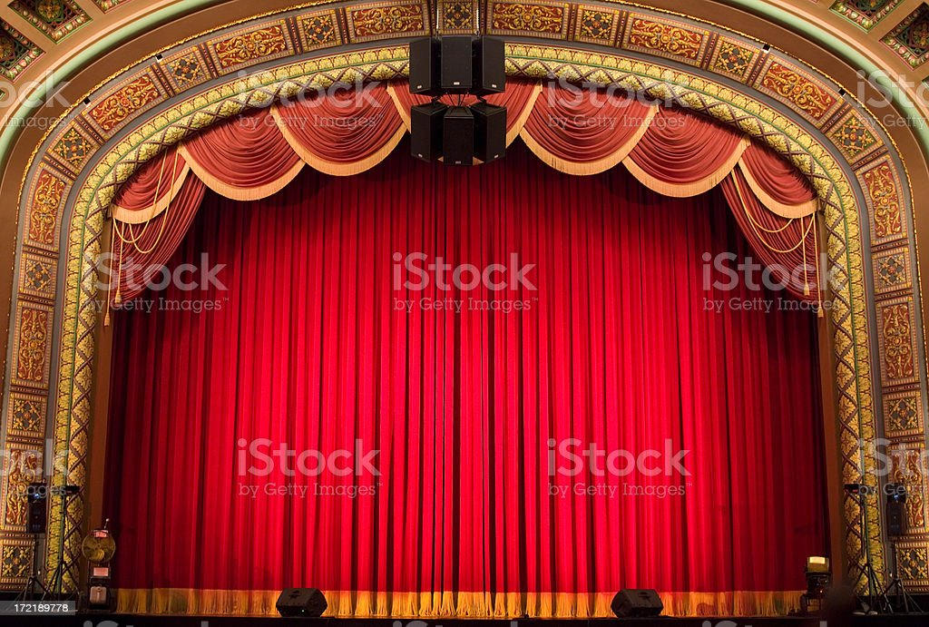 Inside the Theatre royalty-free stock photo