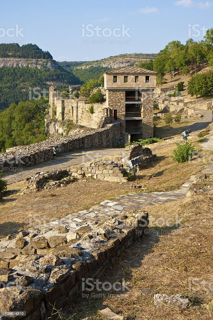 Inside Tsarevets Fortress royalty-free stock photo