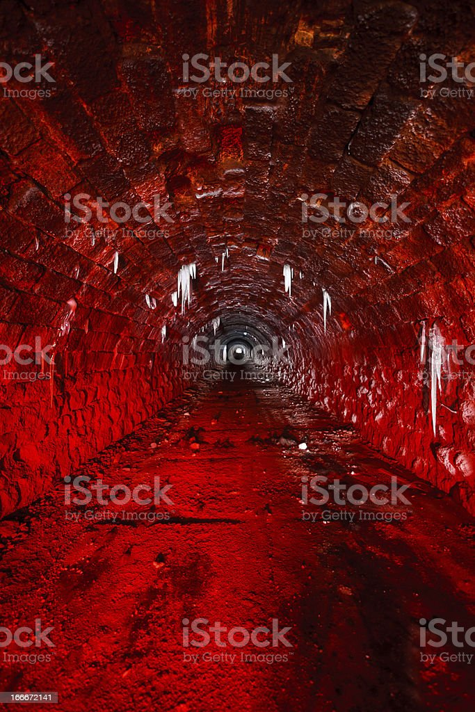 Inside Tunnel of Hell royalty-free stock photo