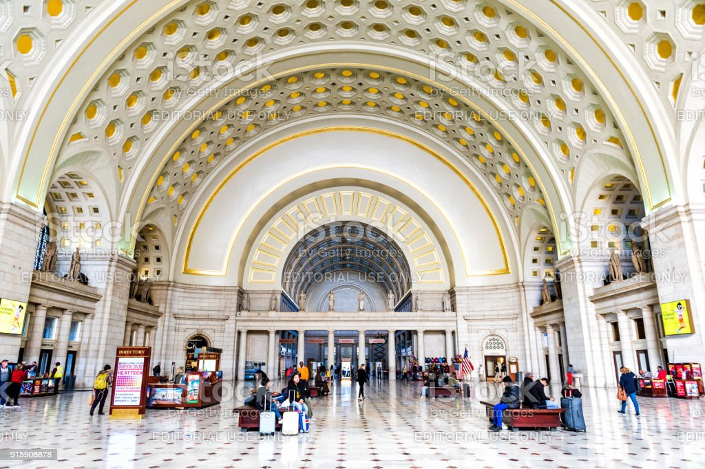 Inside Union Station In Capital City With Transportation