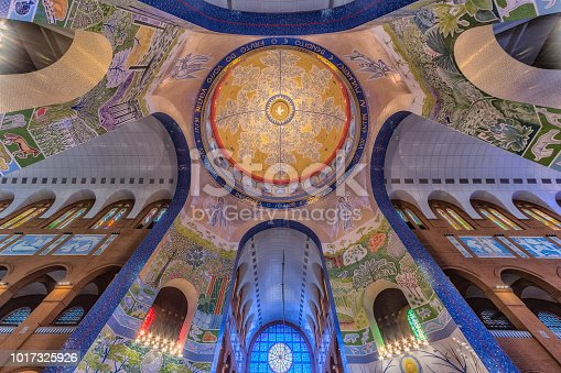 istock Inside view above the main altar of the Basilica of Our Lady Aparecida 1017325926