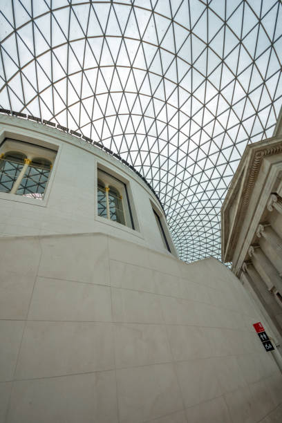 Inside view of British Museum, City of London, England, Great Britain stock photo
