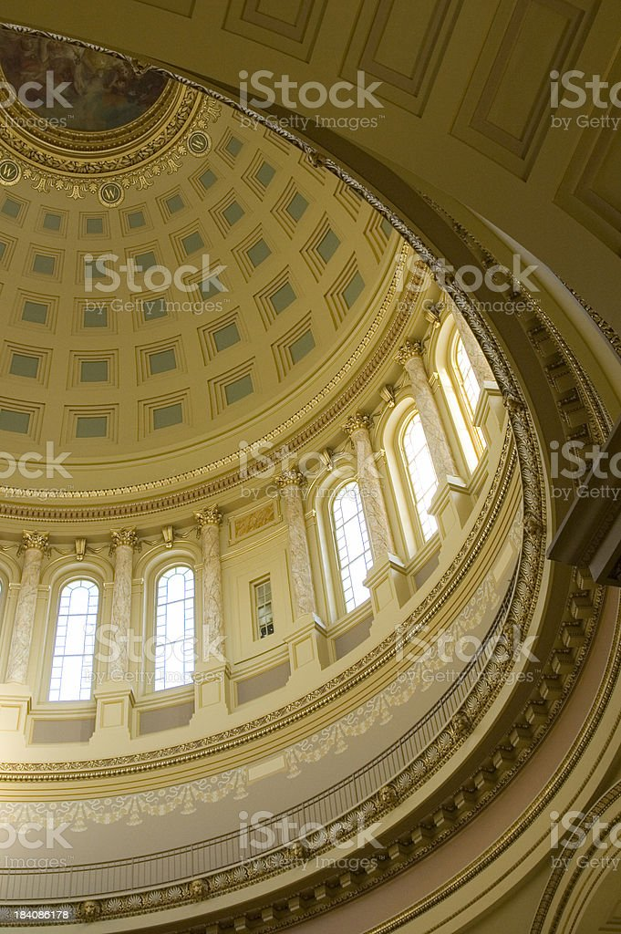 Inside view of capitol dome royalty-free stock photo