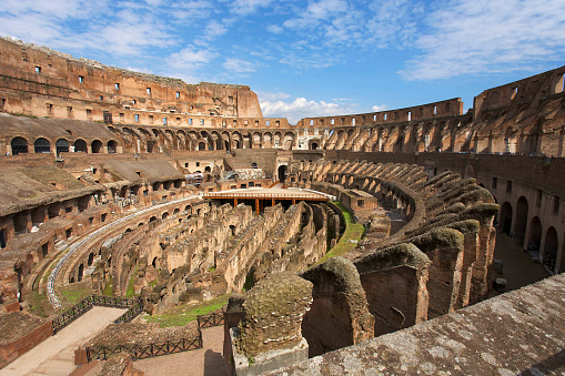 Inside View Of Coliseum In Rome Stock Photo - Download Image Now