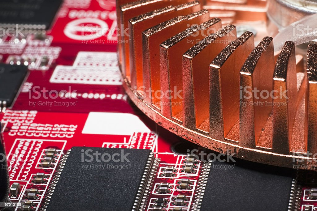 Inside View of Computer royalty-free stock photo