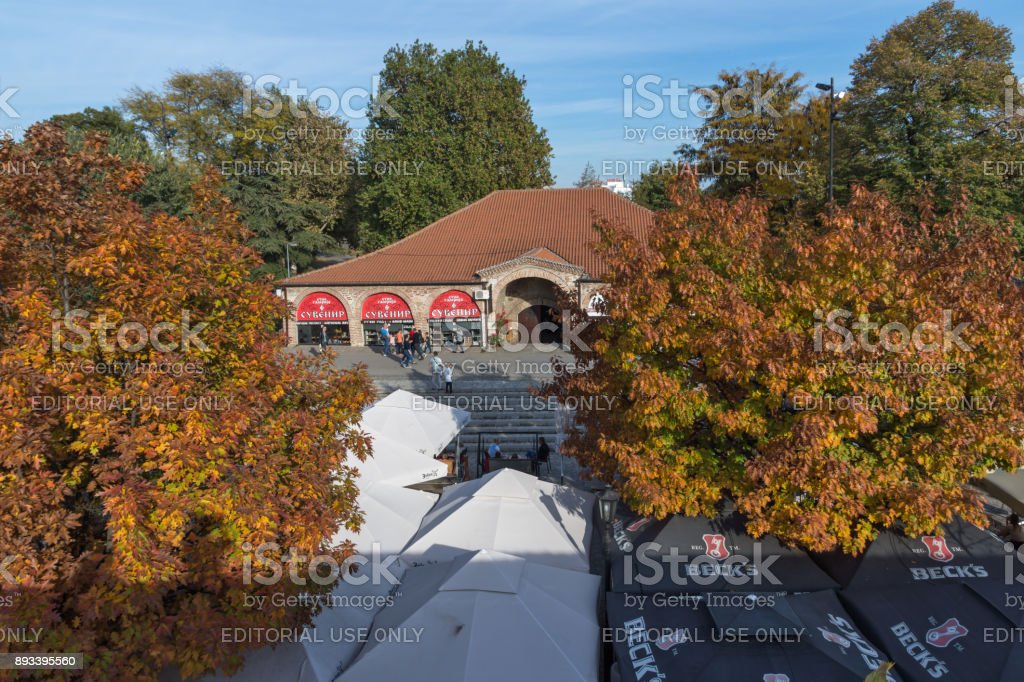 Inside view of Fortress and park in City of Nis, Serbia stock photo