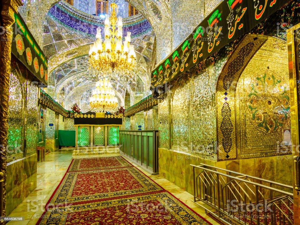 Inside view of Shah-e-Cheragh Shrine In Shiraz stock photo