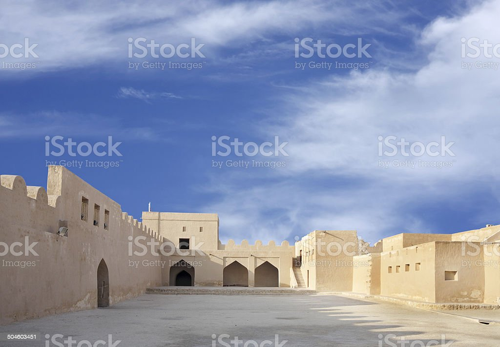Inside view southern portion of Riffa fort, Bahrain stock photo