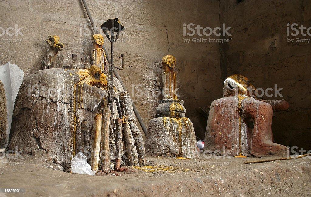 inside voodoo temple stock photo