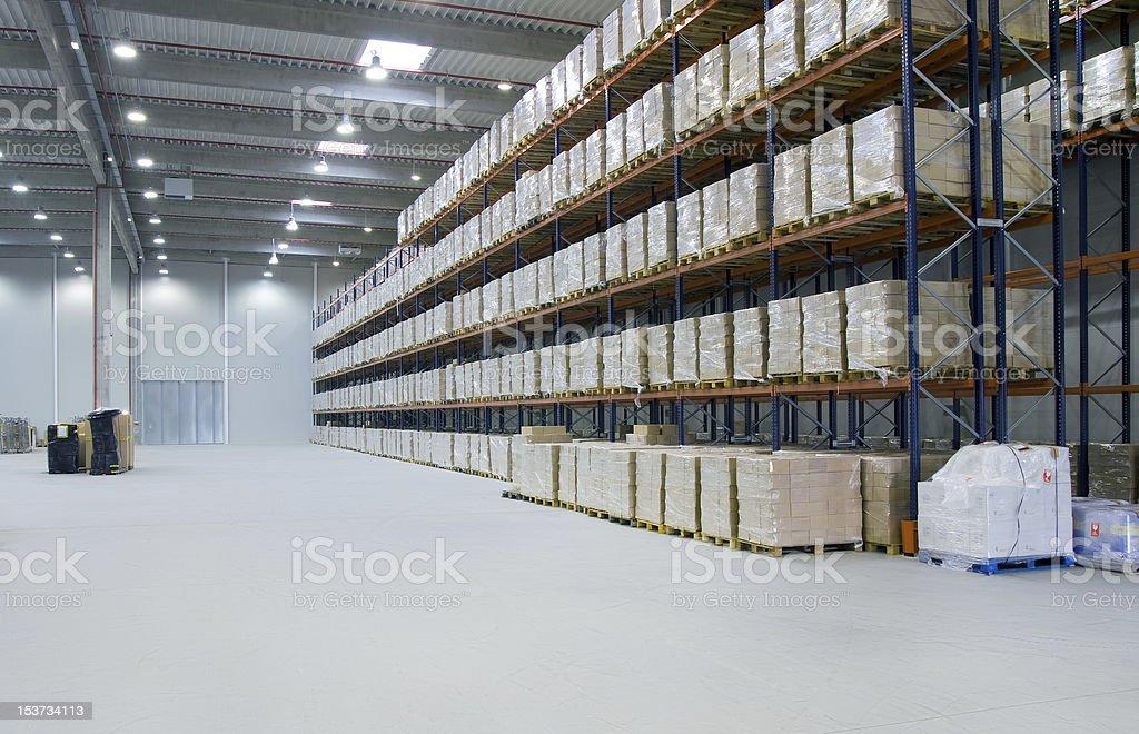 Inside warehouse stock photo
