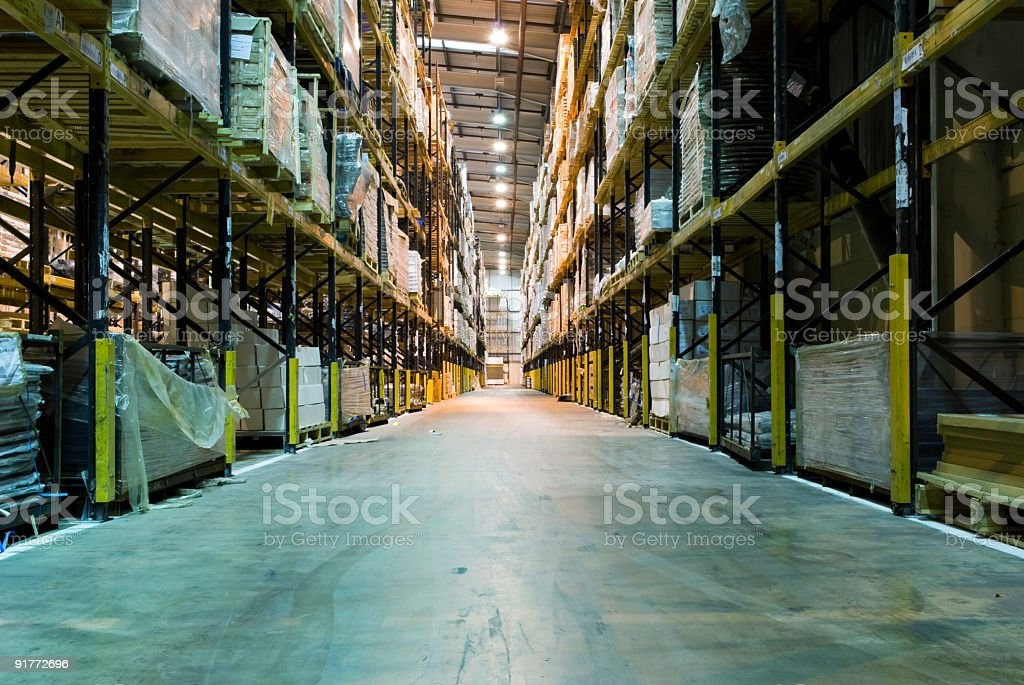 Inside Warehouse royalty-free stock photo
