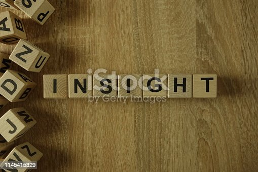 istock Insight word from wooden blocks 1145415329