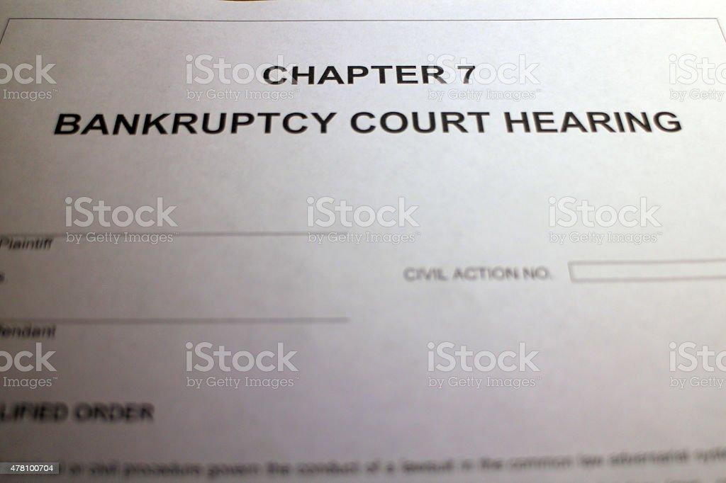 Insolvency stock photo