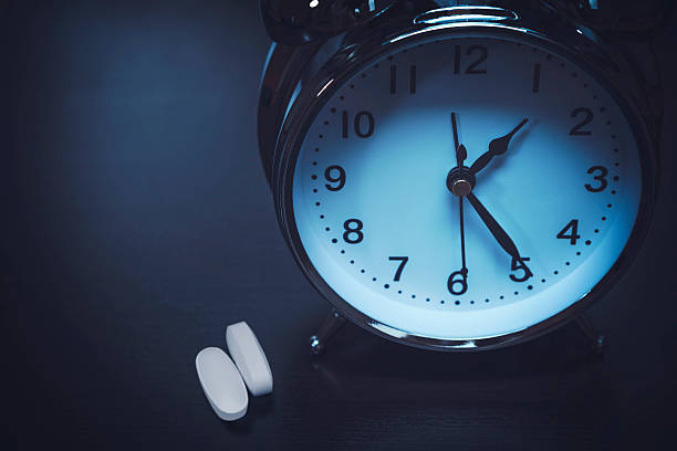 insomnia - sleeping pill stock photos and pictures