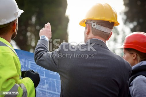 istock Inspecting construction site 180817205