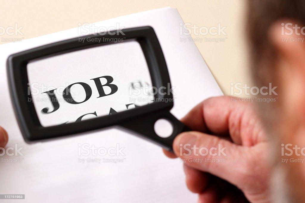 Inspecting job application royalty-free stock photo
