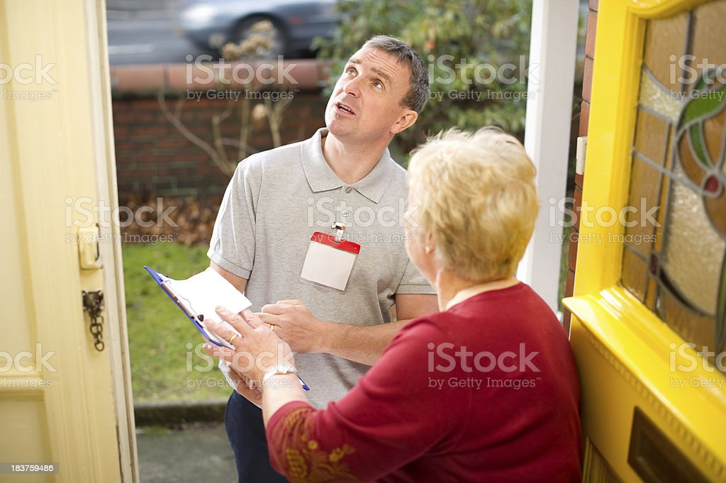 Inspecting salesman royalty-free stock photo