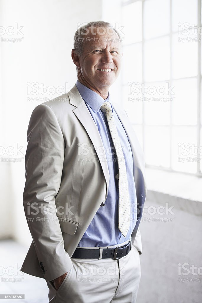 Inspecting some office space for his start-up royalty-free stock photo