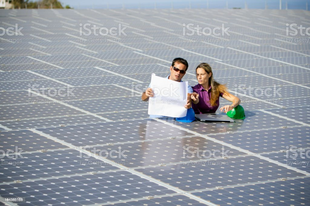 Inspecting the installation royalty-free stock photo