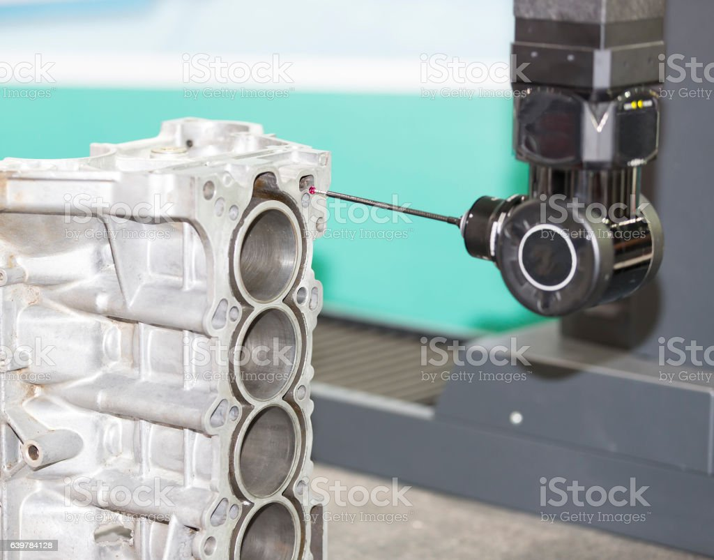 inspection automotive part dimension stock photo