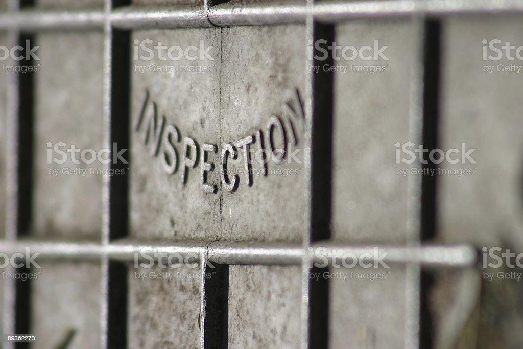 inspection cover royalty-free stock photo