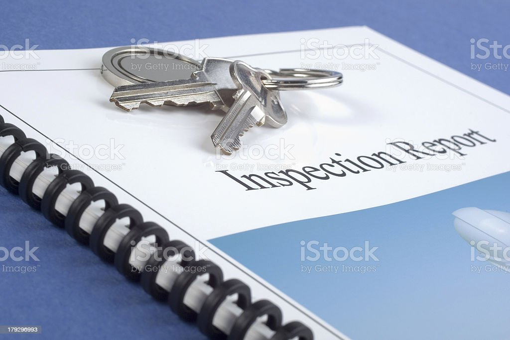 Inspection Report and Keys royalty-free stock photo