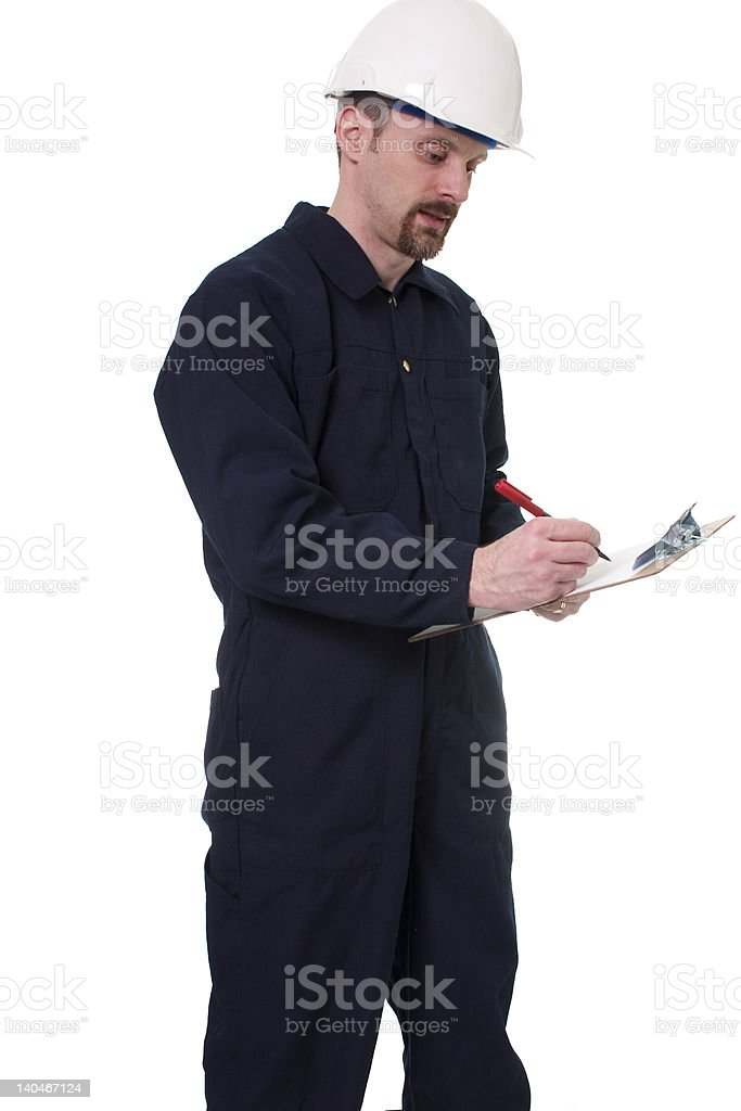 inspector at work royalty-free stock photo