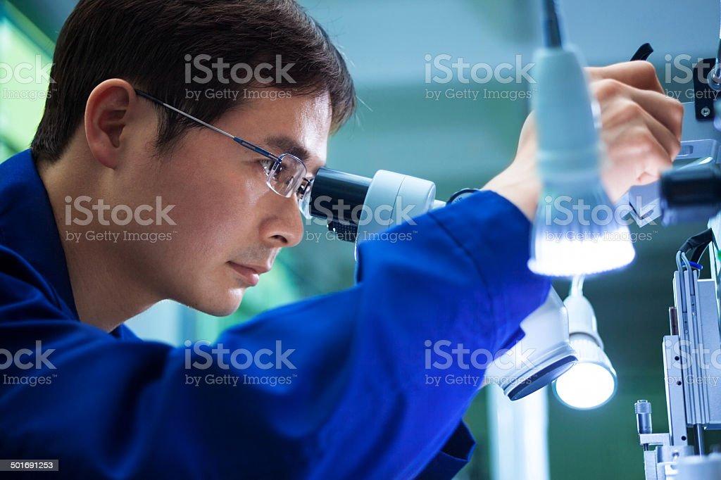 QC inspector engineer stock photo