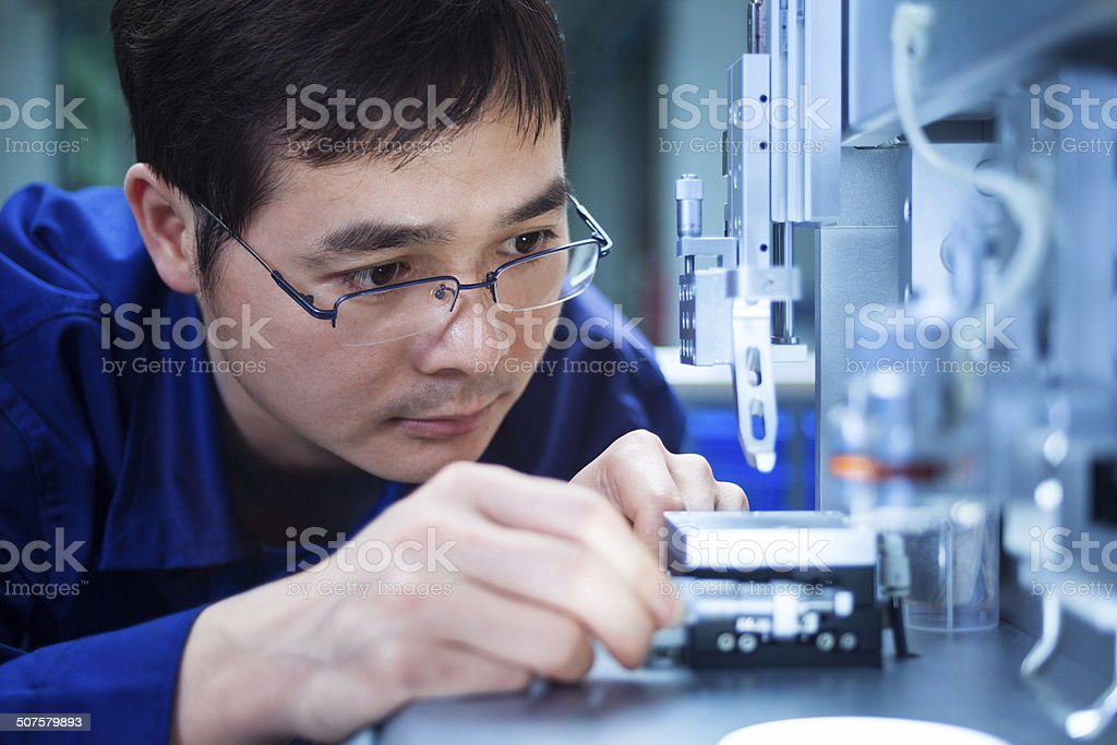 QC inspector engineer stock photo