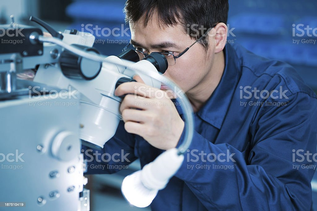 Inspector stock photo