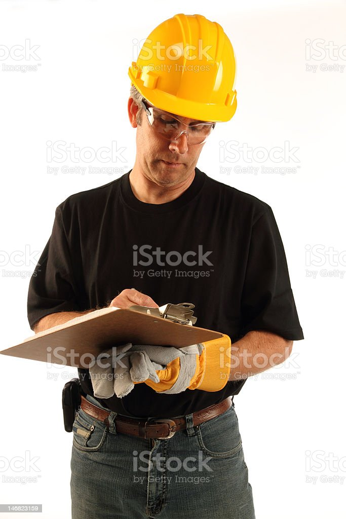 inspector quality control royalty-free stock photo
