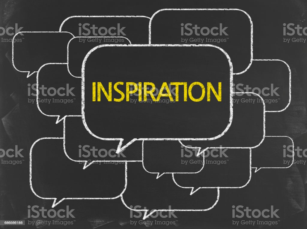 Inspiration - Business Chalkboard Background royalty-free stock photo
