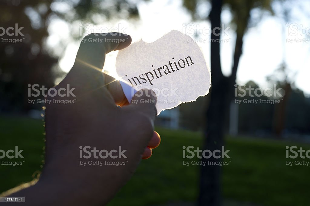 Inspiration concept royalty-free stock photo