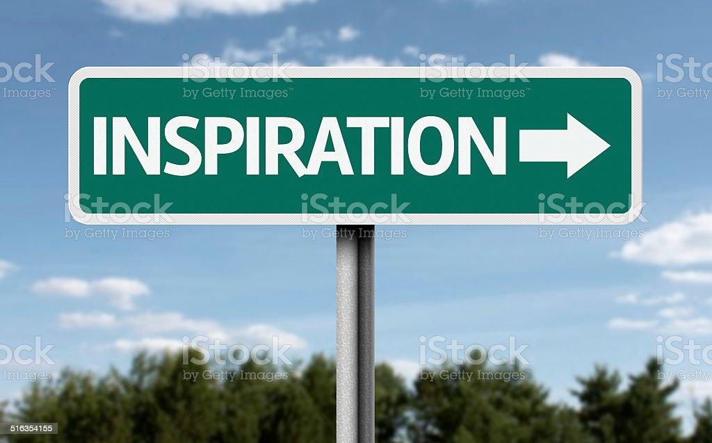 Inspiration creative sign stock photo