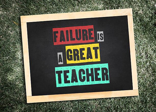 """inspiration: """"fehler ist eine großartige lehrer auf tafel"""" - schlechte zitate stock-fotos und bilder"""