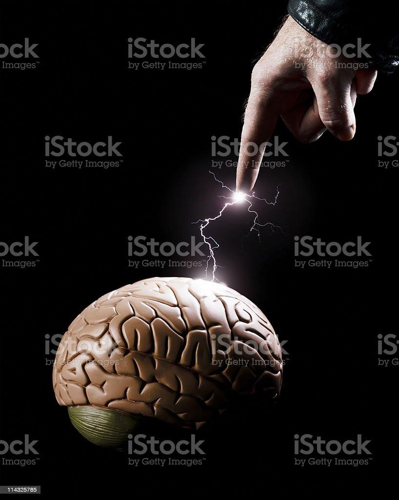Inspiration | Lightning finger brain stock photo
