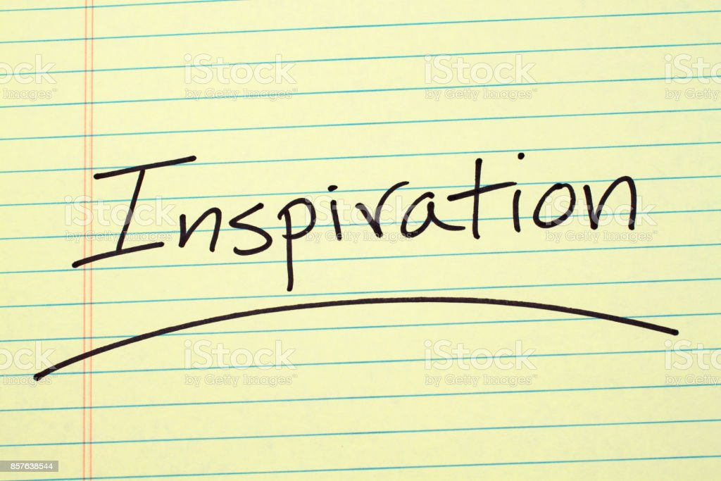 Inspiration On A Yellow Legal Pad stock photo